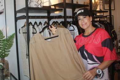 Diana Pelta in ihrem neuen Shop.
