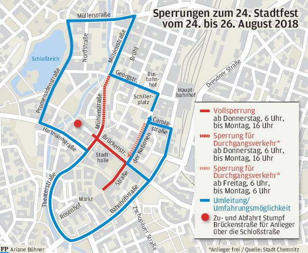Verkehrseinschränkungen zum Stadtfest
