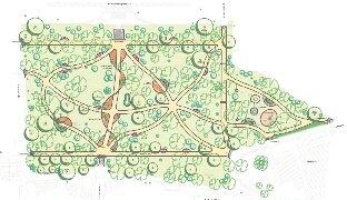 """<p class=""""artikelinhalt"""">Der Plan für die Neugestaltung des Stollberger Seminarparks lässt die Wege wie Ornamente erscheinen. Der Baumbestand wird durch Fällungen und Neuanpflanzungen verjüngt, sodass der Park auch in den kommenden Jahrzehnten der Stadt zur Zierde gereicht.</p>"""