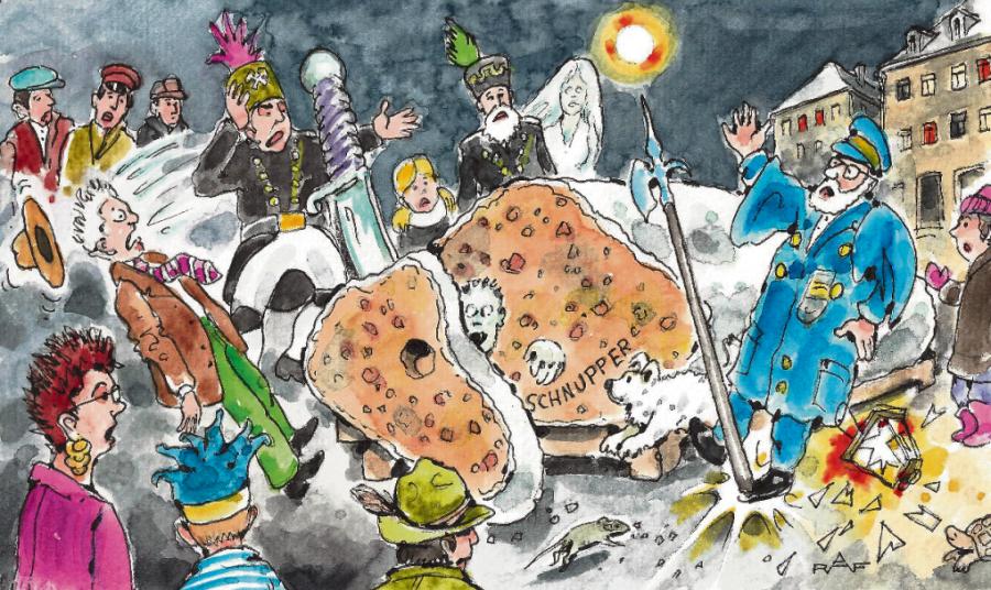 Satire zum Jahresende: Der Tote im Stollen
