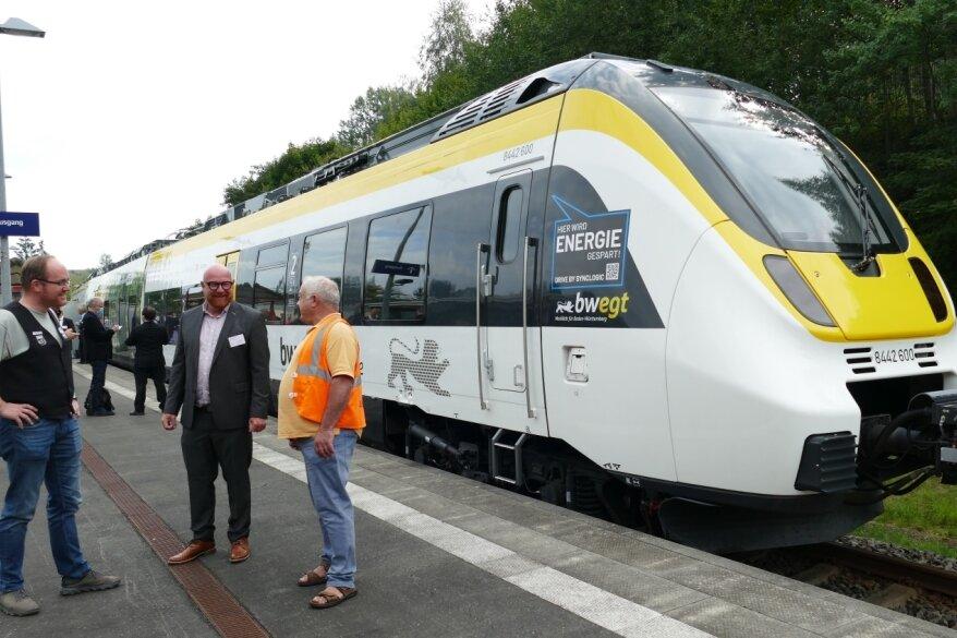 E-Zug macht in Zschopau Halt