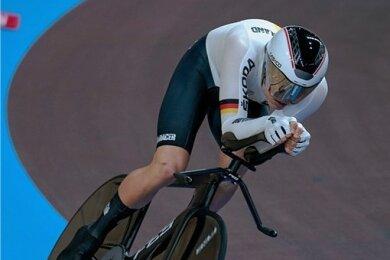 Felix Groß raste bei der Bahn-WM Ende Februar 2020 in Berlin zu einem neuen deutschen Rekord.