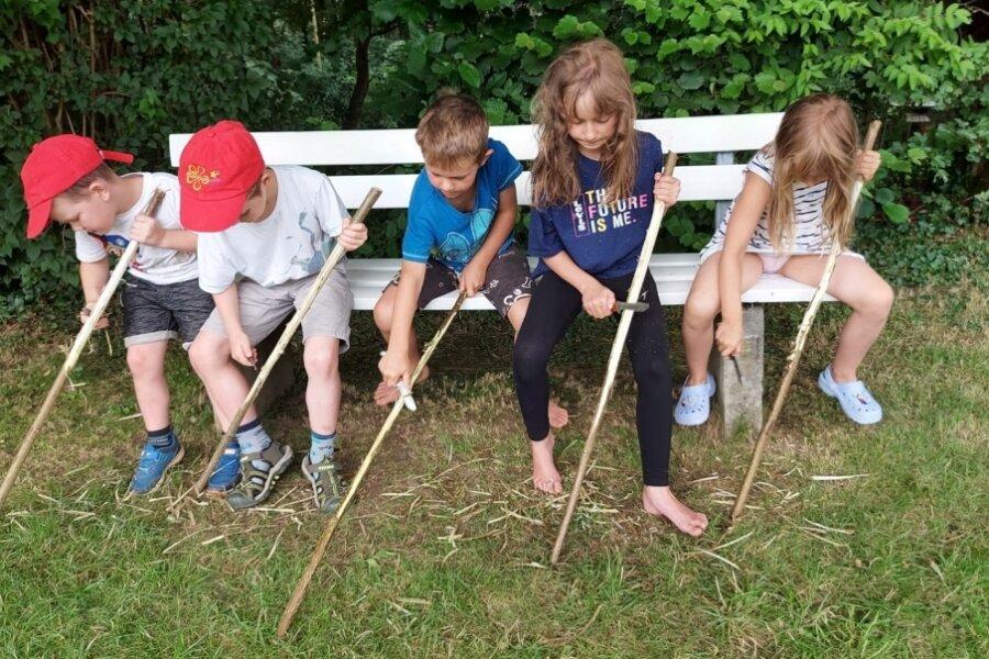 Ferienkinder genießen den Sommer