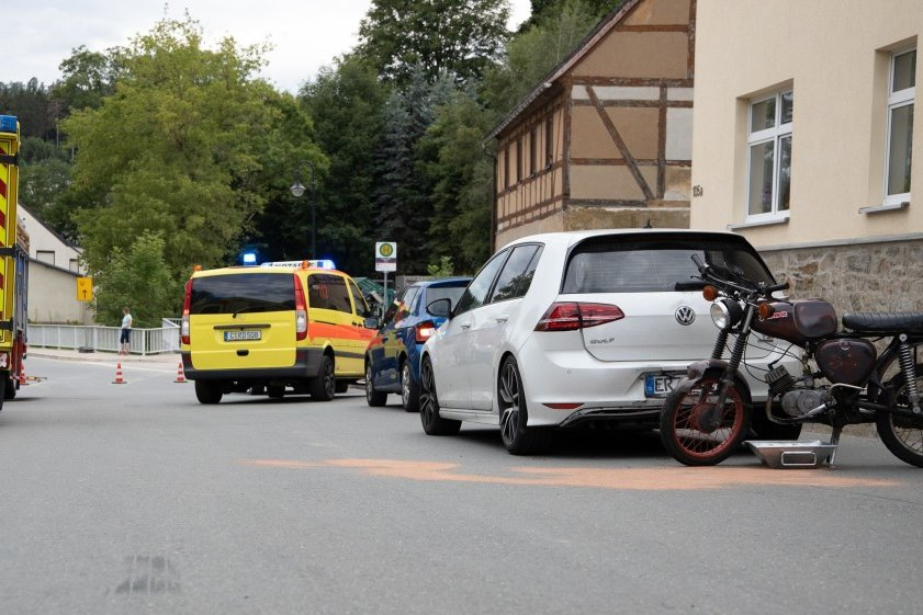 Auffahrunfall in Walthersdorf