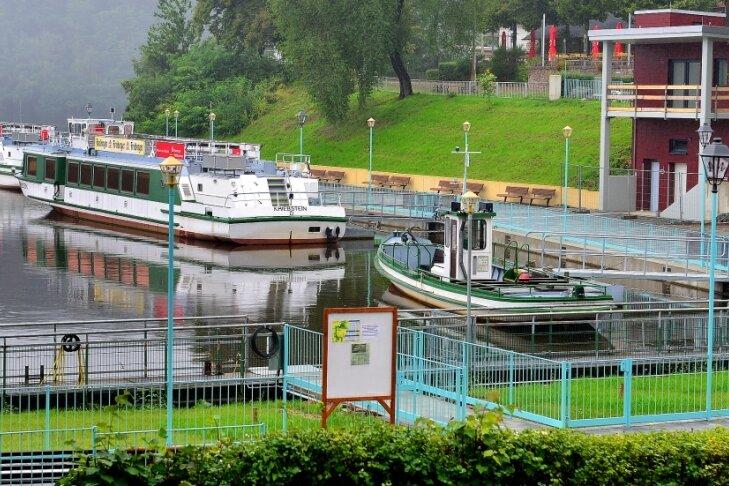Barrierefrei zu den Schiffen der Talsperre: Der Fahrstuhl ist schon eingebaut