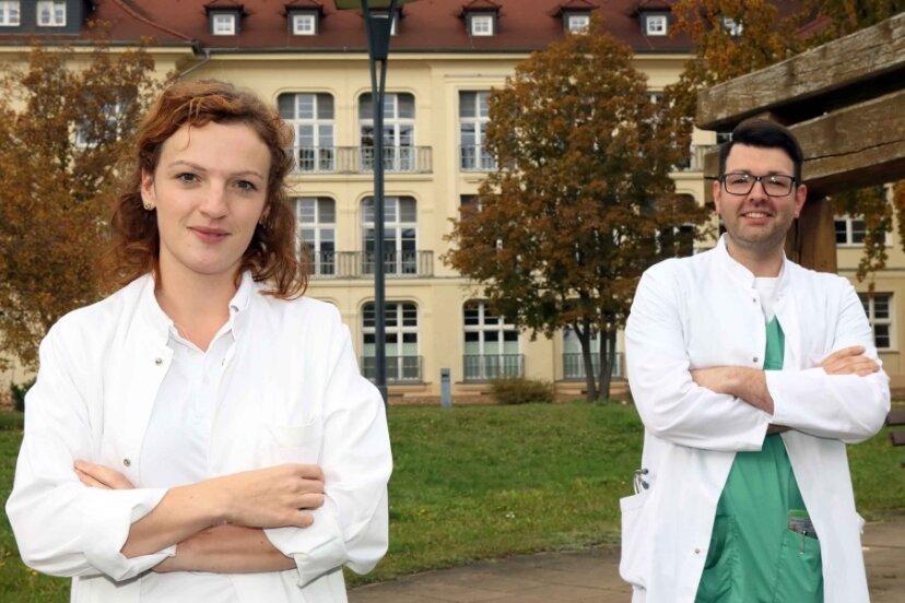 Elisabeth Brode und Tobias Lambert - zwei junge Assistenzärzte aus der Region am HBK Zwickau.