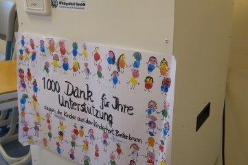 Dieser Luftfilter im Breitenbrunner Hort ist auf Initiative der Kinder und mit Hilfe von Spenden gekauft worden.