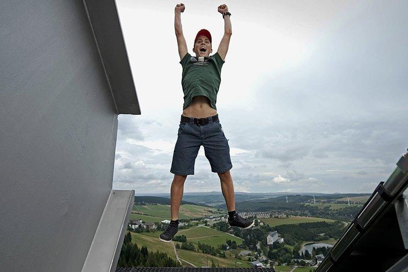Olympiasieger Eric Frenzel freut sich immer auf sein Heimspiel am Fichtelberg im August.