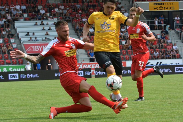 VfB Auerbach spielt 0:0 gegen FC Rot-Weiß Erfurt