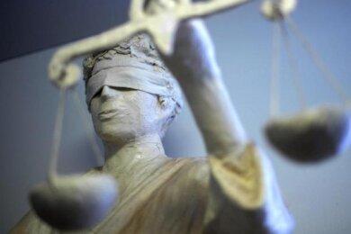 Sechs Justizwachtmeister und Polizisten waren am Mittwoch nötig, um einen Angeklagten am Zwickauer Amtsgericht in den Griff zu bekommen.