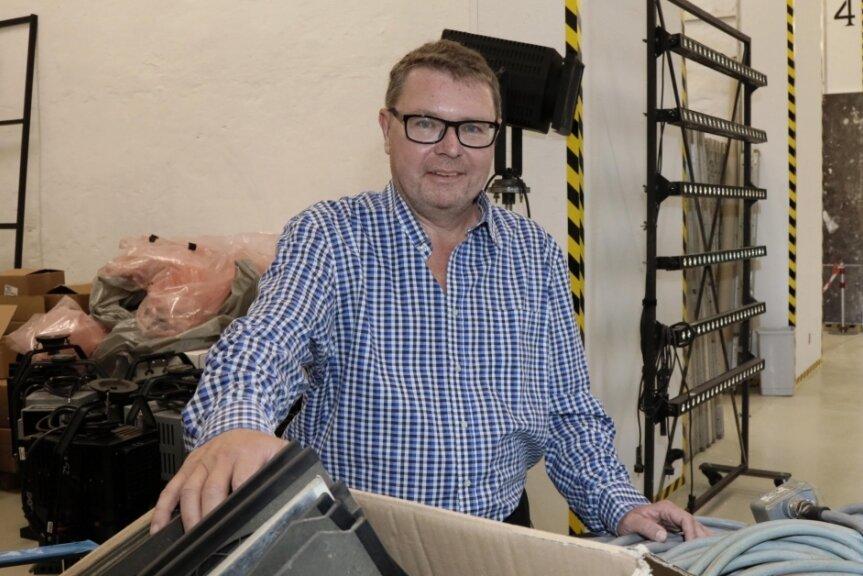 Der Herr über die Werkstätten: Silvio Gahs, Technischer Direktor des Theaters Plauen-Zwickau.