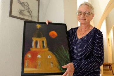 Bilder aus Merinowolle zeigt Barbara Haubold aus Mülsen in einer neuen Ausstellung im Leubnitzer Schloss.