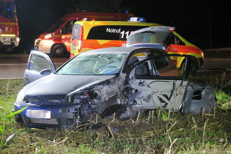 Drei Verletzte bei Unfall auf Autobahnzubringer