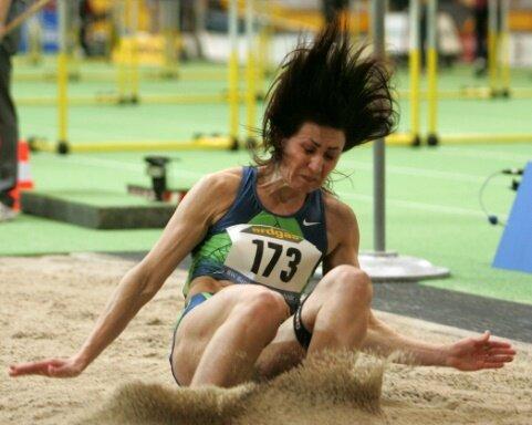 Lebedewa holte 2008 in Peking zweimal Silber