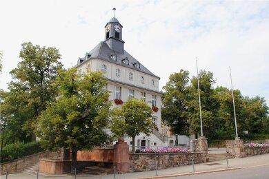 Das Rathaus Lugau in Lugau.