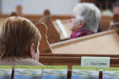 Zur Eröffnung des Orgelsommers musizierten Kantor Heiko Brosig an der Orgel und Matthias Krüger an der Trompete.