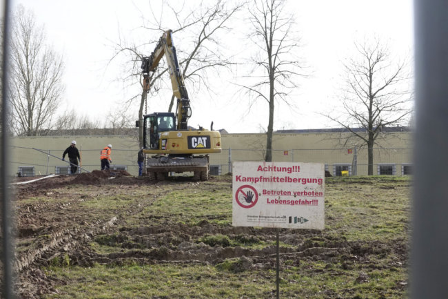 Bereits im März fanden auf dem Gelände Untersuchungen statt.