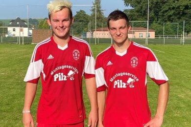 Die Mülsener Franz Thümmler (links) und Nils Frischmann (rechts) erzielten beim 8:3-Erfolg beide je einen Doppelpack.