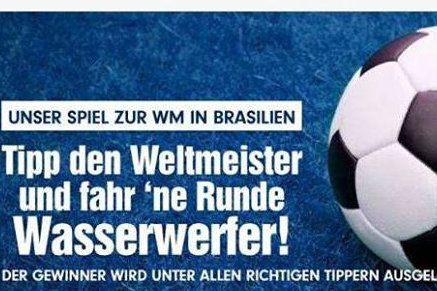 So warb die Polizei Sachsen für ihr Gewinnspiel.