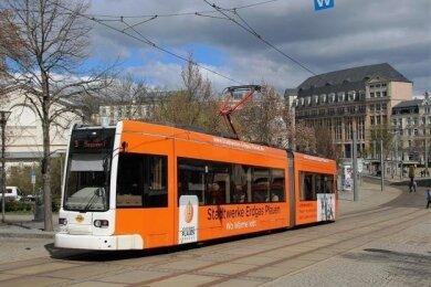 Am Donnerstag werden in Plauen keine Straßenbahnen auf den Linien 1 bis 5 verkehren. Grund ist ein Streik, den die Gewerkschaft Verdi angekündigt hat.