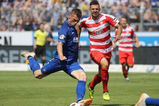 FSV Zwickau verpasst Sieg gegen Karlsruhe knapp
