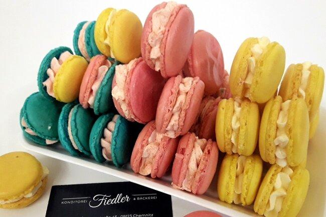 Eine Spezialität der Konditorei Fiedler in Einsiedel: Macarons.