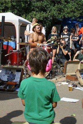 Musikalische Früherziehung auf dem Festival.