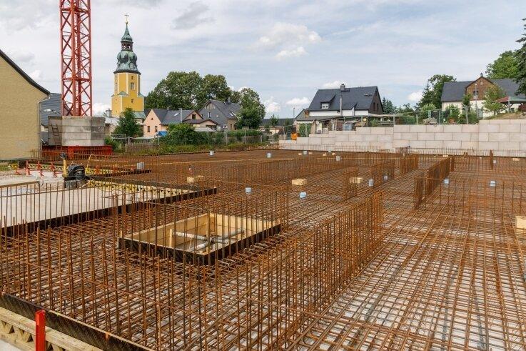 Ende kommenden Jahres soll die neue Scheibenberger Bildungs- und Begegnungsstätte fertig sein.