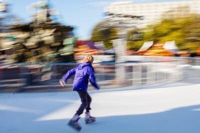 Stausee-Eis fürs Schlittschuhlaufen zu dünn