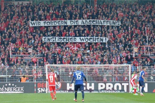 """Unter dem Motto """"DFB, DFL & Co. - Ihr werdet von uns hören!"""" hatten Ende September die aktiven Fanszenen zahlreicher Clubs einen Stimmungsboykott durchgezogen, so auch die Anhänger von Union Berlin (Foto). Die Verantwortlichen der Eisernen fordert nun in einem Positionspapier einen Kurswechsel."""
