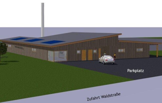 So könnte das neue Vereinszentrum aussehen.