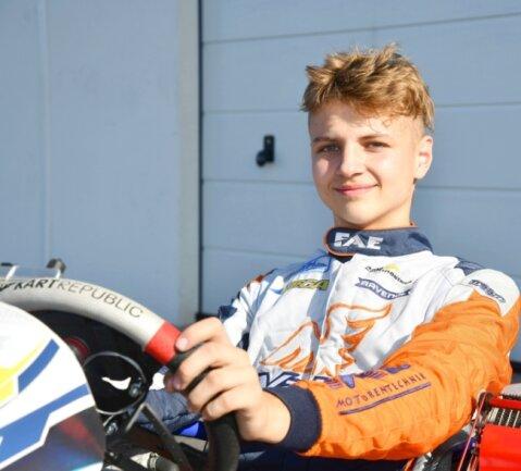 Motorsporttalent: Kart-Pilot Simon Connor Primm ist in seiner ersten Saison in der nationalen Meisterschaft gleich auf Rang 5 gefahren.