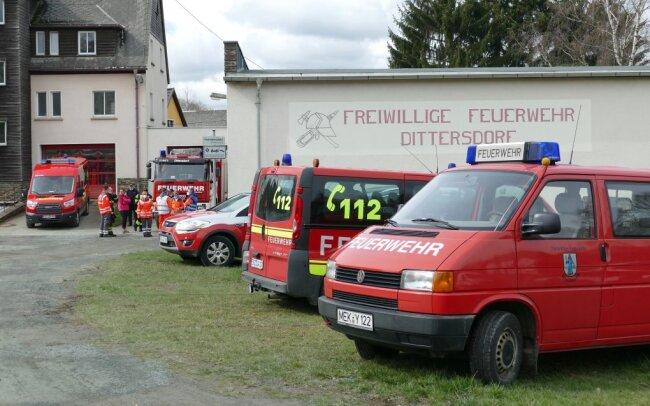 Das Depot der Freiwilligen Feuerwehr Dittersdorf dient als Lagezentrum.