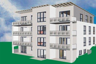 Mit dieser Prospektansicht informiert und wirbt die Immostyle-Bauträger-Gesellschaft aus Schwarzenberg für die neue Haus-Investition nahe dem Kreiskrankenhaus in Stollberg.