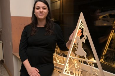 In diesem Jahr gibt es mit Amelie Pia Formacek eine Schwibbogenkönigin.