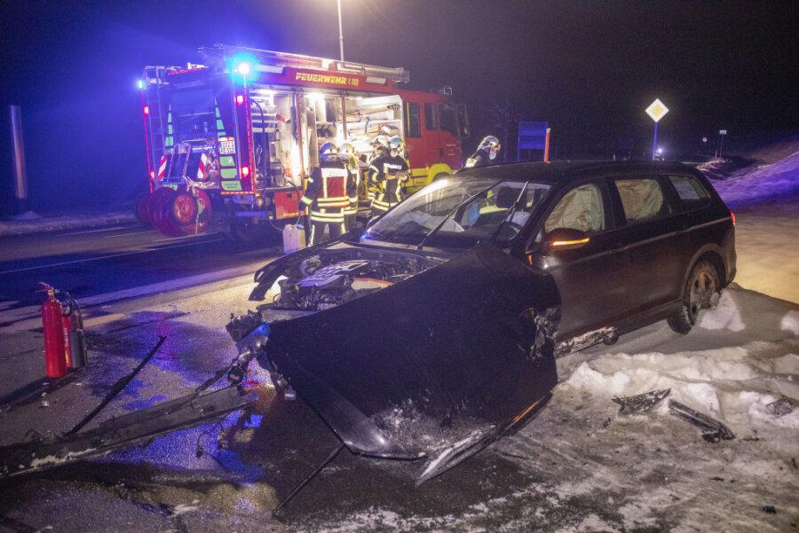 Erneut Unfall an Blitzerkreuzung in Elterlein