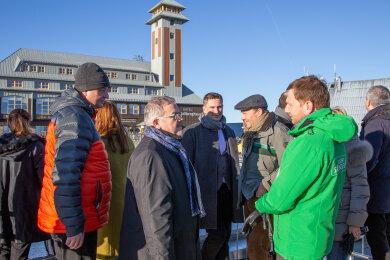 Die Minister haben sich am Freitag zur Klausurtagung auf dem Fichtelberg Oberwiesenthal getroffen.