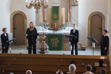 Das Frauenquartett Fedecanto hat in der Zschorlauer Kirche ein Konzert gegeben.