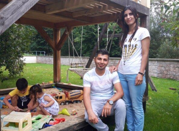 Mohammad Salihi, seine Frau Lak und die beiden Kinder Elyas und Inas fühlen sich in Flöha wohl. Doch sie hätten gerne mehr Kontakt zu Einheimischen, um die deutsche Sprache besser zu lernen.