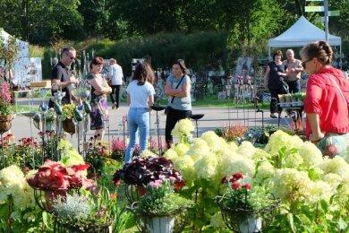 Über 50 Aussteller haben beim Haus- und Gartenmarkt im Oelsnitzer Bürger- und Familienpark ihre Angebote präsentiert.