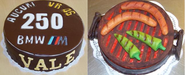 Die Rossi-Torte (links) und andere Motivtorten gehören zu den Spezialitäten von André Bösewetter.