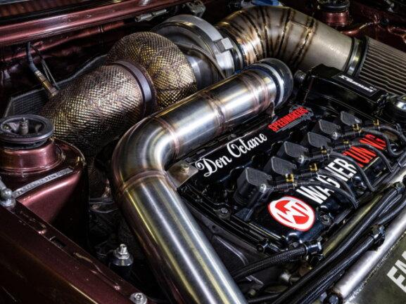 Wo die PS herkommen: Herzstück des Sechszylinder-Motors ist ein riesiger Turbolader.
