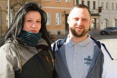 Ronny Deißler und seine Freundin Mandy Sieg aus Werdau.