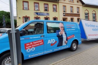 Der AfD-Kreisverband traf sich im Krystallpalast Klaffenbach.