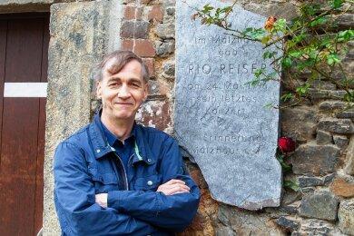 Der Plauener Musikfreund Steffen Bandt hat ein umfangreiches Wissen über den Rockpoeten Rio Reiser angehäuft.