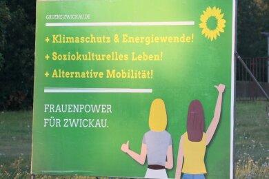Nanu! Gar kein grüner OB-Kandidat in Zwickau aber trotzdem Wahlwerbung - wie kommt das?