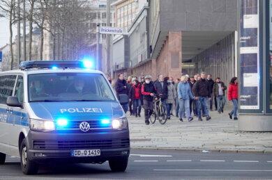 Auch in Chemnitz war eine größere Gruppe unterwegs.