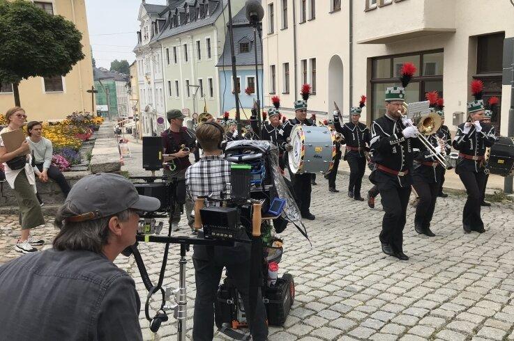 Mehrfach wurde in der Region für den Erzgebirgskrimi gedreht, hier in Schneeberg. Wo verschlägt es die Kamerateams wohl demnächst hin?
