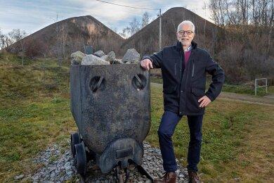 """Zu den Lieblingsorten von Manfred Speer gehört die Halde 116 am Schacht """"Drei Könige"""" in Annaberg-Buchholz. Die Sanierung lief unter seiner Regie. Der bergbauliche Charakter des heutigen Freizeitgeländes wurde bewusst bewahrt."""