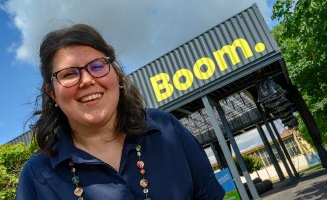 Josefine Frank, Standortleiterin der Zentralausstellung, freut sich, dass gleich am ersten Wochenende etwa 660 Menschen aus ganz Sachsen, anderen Bundesländern und dem Ausland gekommen sind.